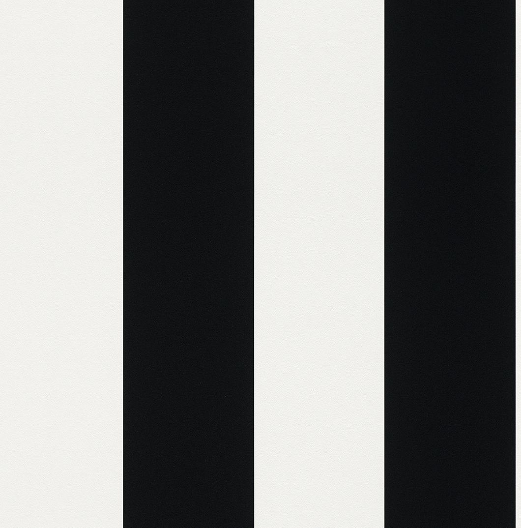 Streifen Tapete - schwarz - weiß - Rasch 286694 - NEU