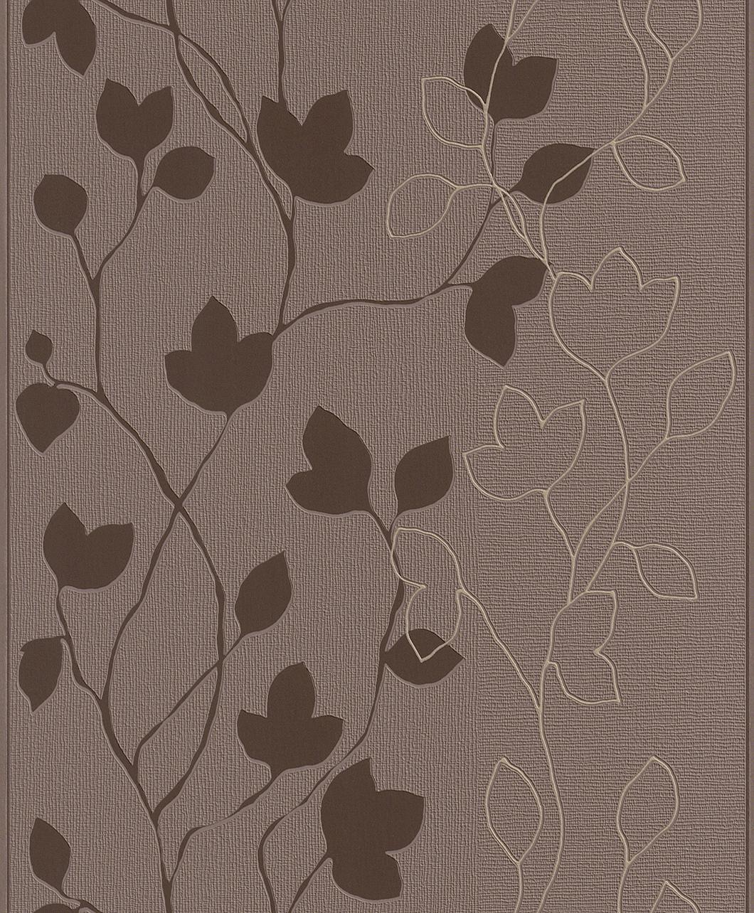 Blumen Tapete braun/creme - Rasch 770216 - NEU